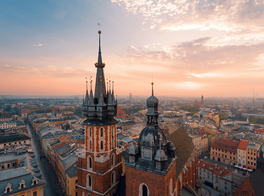 Krakow rooftop